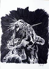 Kresby - INKtober - day3 Roar - 7277488_