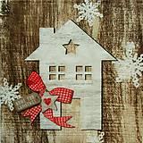 - S856 - Servítky - vločka, domček, hviezda, srdce, vianoce - 7283334_