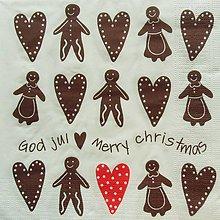 Papier - S855 - Servítky - perník, ginger bread, vianoce - 7280237_