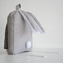 Detské tašky - RUKSAK zajačik, sivý, 2,5r. - 7281398_