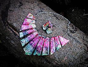 Sady šperkov - Dúhový sen - sada náušníc a náhrdelníka - 7283247_