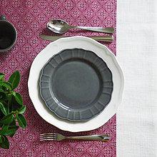 Úžitkový textil - bordový bavlnený behúň, 40 x 130 cm - 7280707_