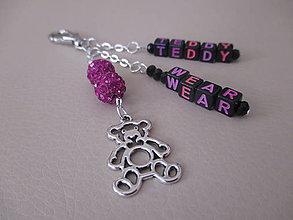 Kľúčenky - TEDDY WEAR - dekorácia na tašku alebo kľúčenku - 7280453_