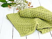 Textil - Detská pletená deka - jabĺčková - 7282732_