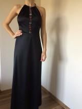 Šaty - Spoločenské šaty s kvetinovou stuhou - 7281559_