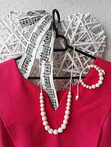 """Sady šperkov - Set silikónového náhrdelníka a náramku na žužlanie """"Cukríková"""" - 7279705_"""