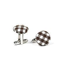 Šperky - Manžetové gombíky hnedá kocka - 7281871_