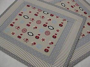 Úžitkový textil - vianoce v prírodných farbách - 7281917_