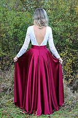 Šaty - Spoločenské šaty s dlhým rukávom a V chrbátom po pás rôzne farby - 7282780_
