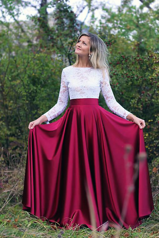 Spoločenské šaty s dlhým rukávom a V chrbátom po pás rôzne farby