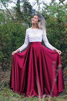 Šaty - Spoločenské šaty s dlhým rukávom a V chrbátom po pás rôzne farby -  7282693  4e155afe1f3