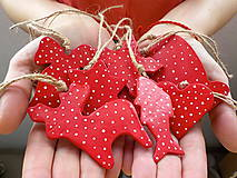 Dekorácie - Čarovné Vianoce - sada ozdôbok 8ks - 7280851_
