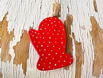 Dekorácie - Čarovné Vianoce-motív na výber (rukavica) - 7280999_
