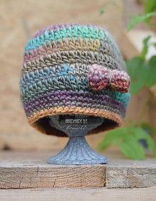 Detské čiapky - Melírovaná čiapočka na jeseň/teplejšiu zimu - 7285631_