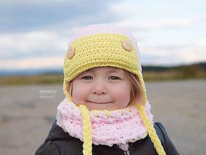 Detské čiapky - Letecká súprava na zimu