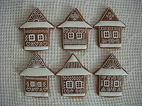 Dekorácie - medovníkové domčeky-Čičmany - 7285580_