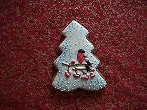 Dekorácie - medovníkový stromček s vtáčikom - 7286061_