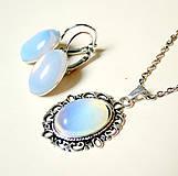 Sady šperkov - Opalite Antique Silver Set / Sada náhrdelníka a náušníc s opalitom - 7283791_