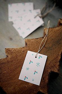 Papiernictvo - Vianočné menovky - 7284885_