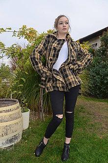 Kabáty - kabátik žlté káro - 7285713_