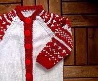 Detské súpravy - Dupačky červeno-biele - 7285874_
