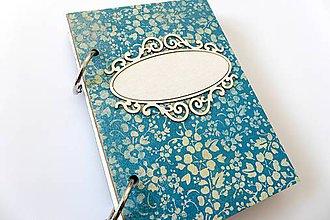 Papiernictvo - zápisník modrý - 7284096_