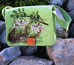 Kabelky - Autorská kabelka zelená - 7285113_