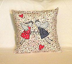 Úžitkový textil - Dekoračný vankúšik  - Svadobný (2) - 7283845_