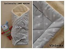 Textil - Zavinovačka pre bábätka/ miminká 100% Merino Top - 7287548_