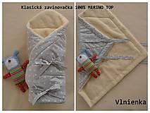 Textil - Zavinovačka pre bábätka/ miminká 100% Merino Top - 7287568_