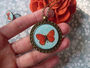 Sady šperkov - Farebný motýlik - ZĽAVA z 5,90 eur - 7286442_