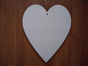 Polotovary - Drevené srdce 20x16,5 cm - 7286259_