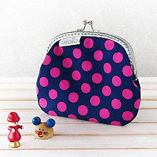 Peňaženky - Peňaženka Modrá s bodkami - 7284537_