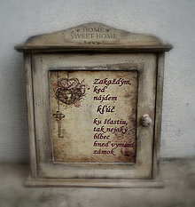 Krabičky - Skrinka na kľúče - 7285849_