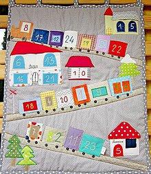 Textil - Adventný kalendár - vláčik - 7286032_