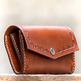 Kožená dámska peňaženka hnedá