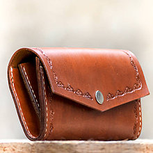 Peňaženky - Kožená dámska peňaženka hnedá - 7287414_