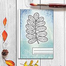 Papiernictvo - Zápisníky Farebná jeseň ((abstraktný) - list 1) - 7284091_