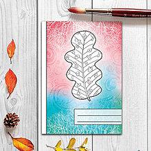 Papiernictvo - Zápisníky Farebná jeseň ((abstraktný) - list 4) - 7286038_
