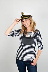 Tričká - Dámske tričko s dlhým rukávom - tričko popisovateľné kriedou - alebo tabuľa na tričku - 7289242_