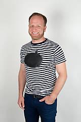 Oblečenie - Pánske tričko -Odkaz vždy čerstvý - alebo tabuľa na tričku - 7289356_