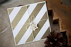 Papiernictvo - Vianočná scrapbook pohľadnica - 7290419_