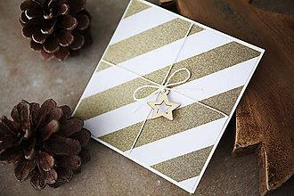 Papiernictvo - Vianočná scrapbook pohľadnica - 7290421_