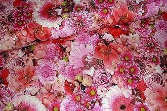 Textil - Látka Ružový mix digi - 7288568_