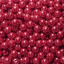 Korálky - GLANCE plast 6mm-50ks (sv.červená) - 7293033_