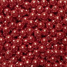 Korálky - GLANCE plast 6mm-50ks (tm.medená) - 7293063_