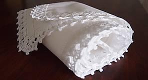 Úžitkový textil - Babka slávnostná štóla snehovobiela - 7292378_
