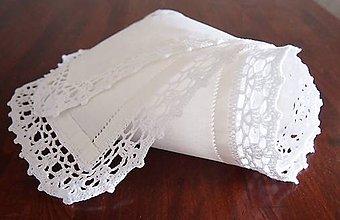 Úžitkový textil - Babka slávnostná štóla snehovobiela veľká - 7292485_