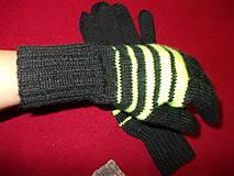 Rukavice - Pánske ručne pletené prstové rukavice- veľkosť S, L - 7292679_