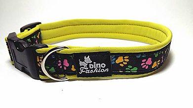 Pre zvieratká - Obojok Dinofashion Coloured Paw Softshell - 7292919_
